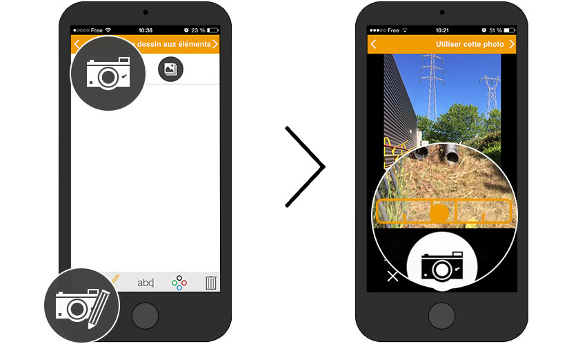 annotation schema photo chantier application iphone android