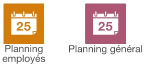 Planning des employes et planning general
