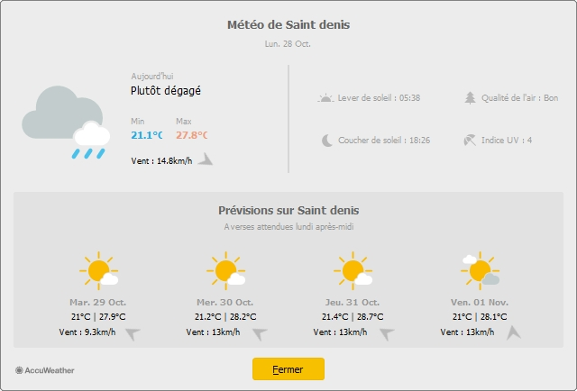 apercu meteo chantier intervention