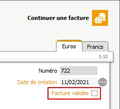 validation de la facture et archivage